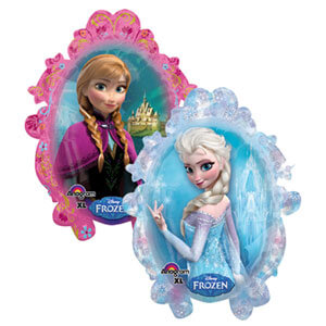 Palloncino Elsa e Anna Frozen ritratti SuperShape 1 pezzo