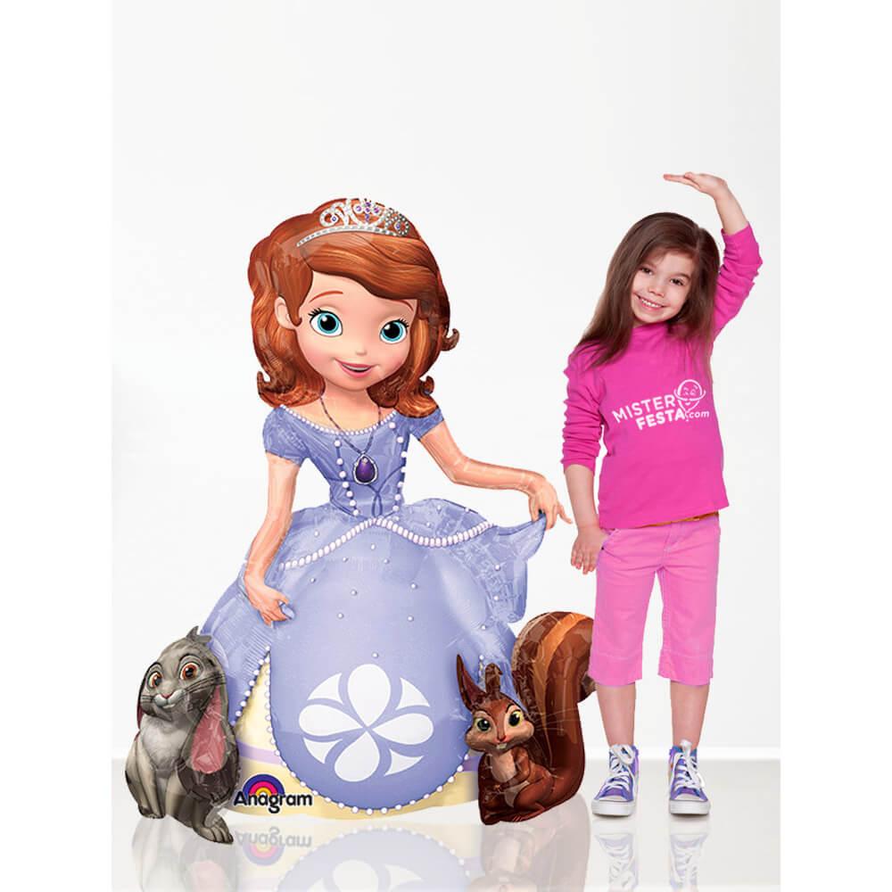 Palloncino Sofia la principessa Disney mascotte AirWalkers 1 pezzo