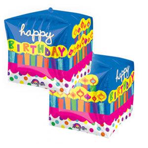 Palloncino compleanno scritta happy BDay Cubez 1 pezzo