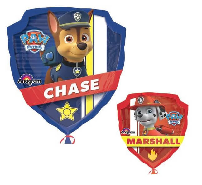 Palloncino Paw Patrol Chase & Marshall SuperShape 1 pezzo
