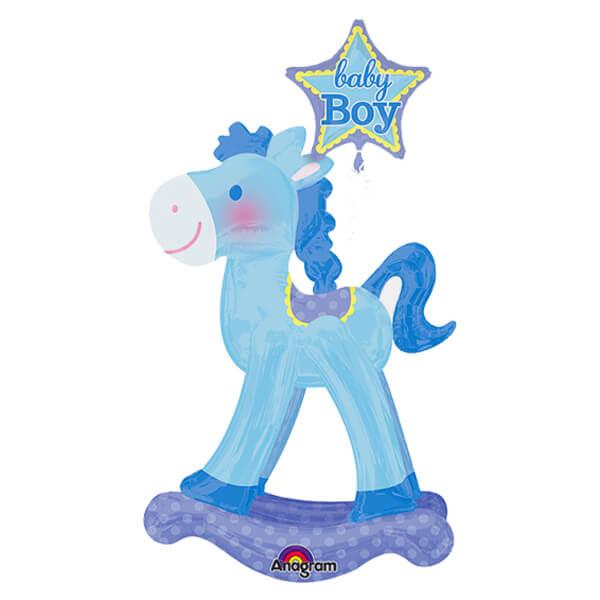Palloncino Cavallo a dondolo bambino Baby Boy mascotte AirWalkers 1 pezzo