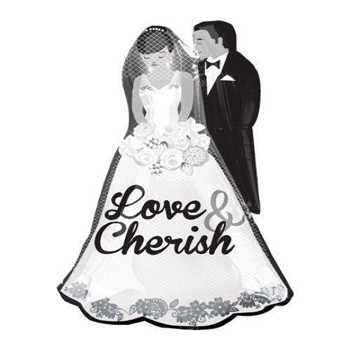 Palloncino coppia sposi Love & Cherish SuperShape 1 pezzo