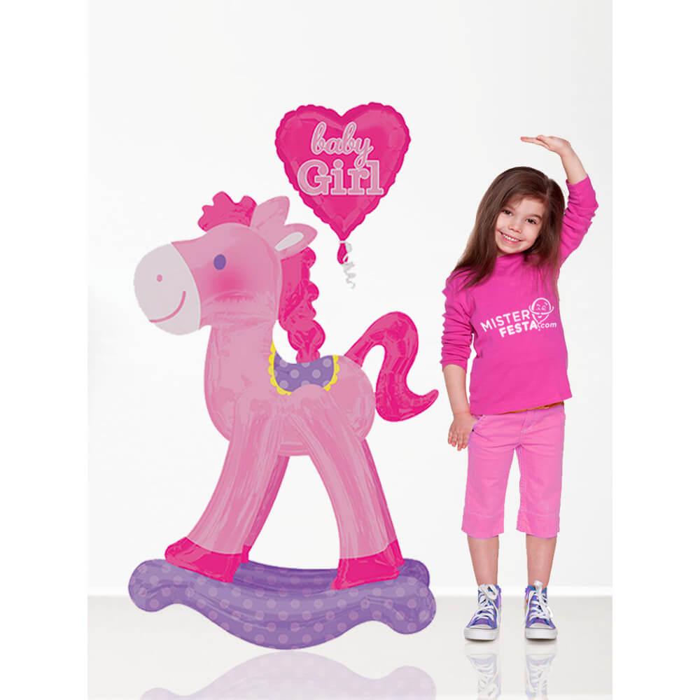Palloncino Cavallo a dondolo bambina Baby Girl mascotte AirWalkers 1 pezzo