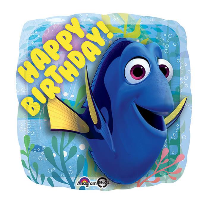 Palloncino Dory compleanno scritta happy BDay 45 cm 1 pezzo