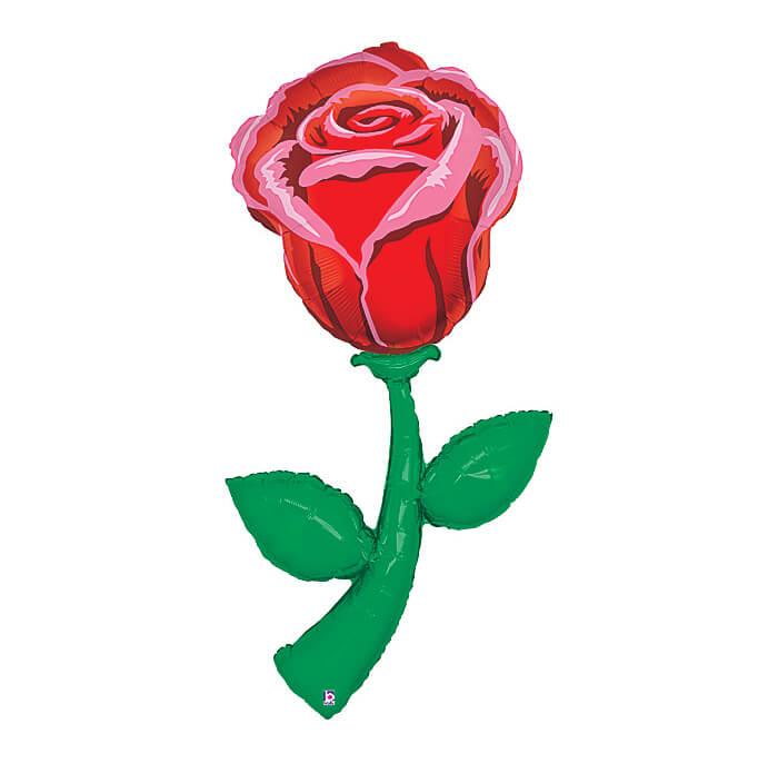 Palloncino Rosa rossa JumboShape 1 pezzo