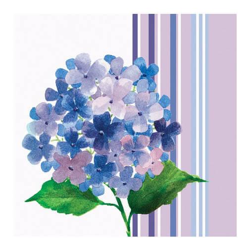 Tovaglioli Ortensia lilla 16 pezzi