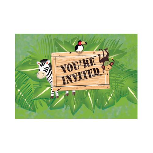 Inviti festa Safari con buste 8 pezzi