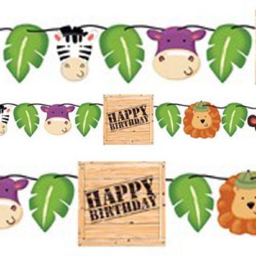 Festone Safari per compleanno scritta happy BDay 1 pezzo