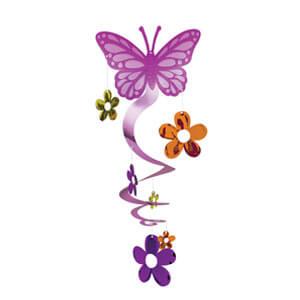 Pendente farfalla e fiori 1 pezzo