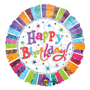 Palloncino Brillante compleanno scritta happy BDay 45 cm 1 pezzo