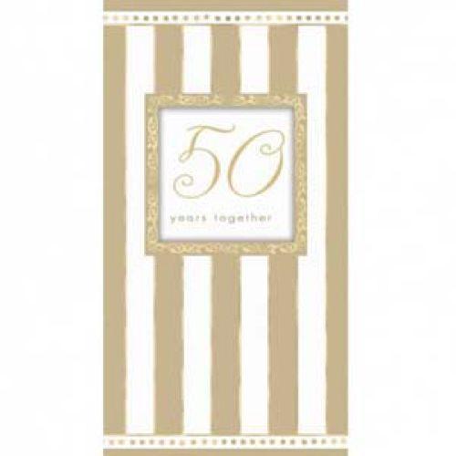 Inviti festa 50esimo Anniversario con buste 8 pezzi