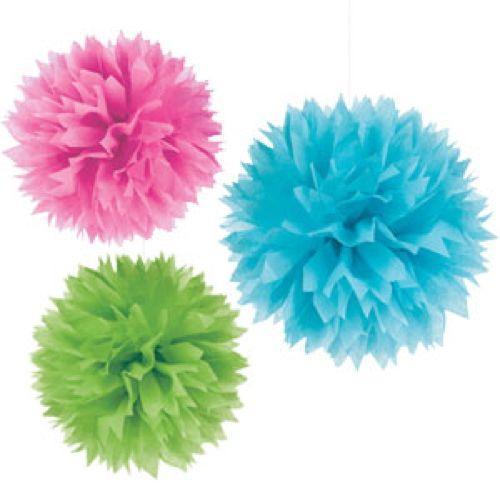 Pendenti fluffy assortimento colore 3 pezzi