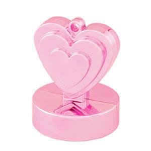 Pesino cuore rosa pastello per ancorare palloncini 1 pezzo