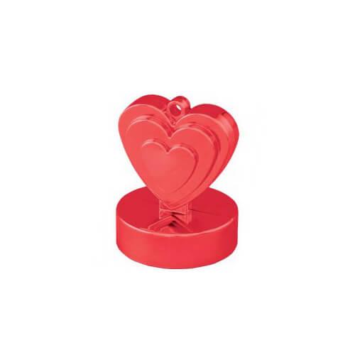 Pesino cuore rosso per ancorare palloncini 1 pezzo