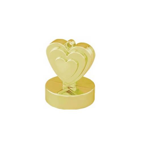 Pesino cuore oro per ancorare palloncini 1 pezzo