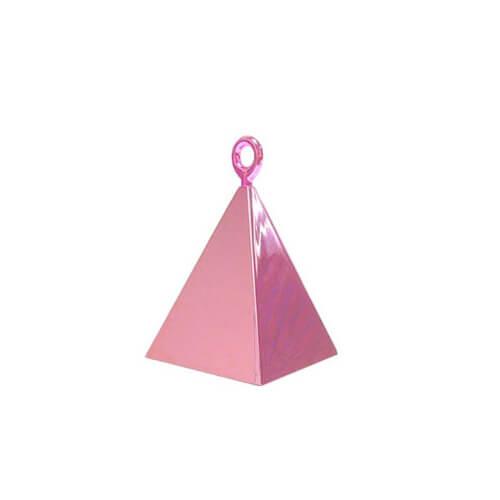 Pesino piramide rosa pastello per ancorare palloncini 1 pezzo