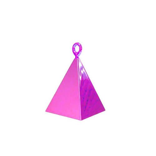 Pesino piramide magenta per ancorare palloncini 1 pezzo