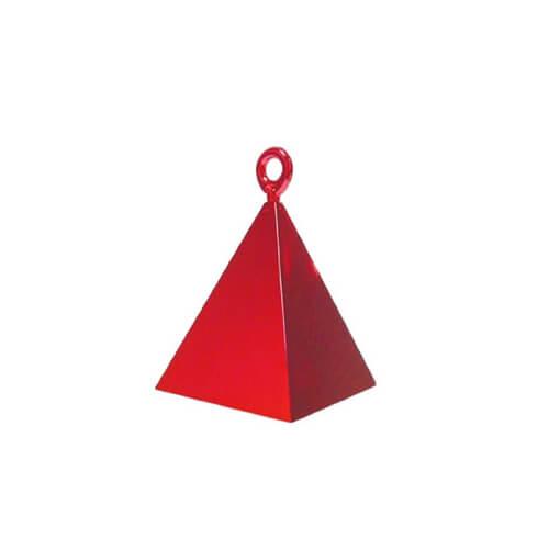 Pesino piramide rosso per ancorare palloncini 1 pezzo