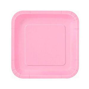 Piatti rosa pastello piccoli 16 pezzi