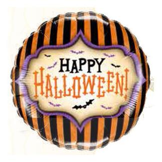Palloncino Happy Halloween righe 45 cm 1 pezzo
