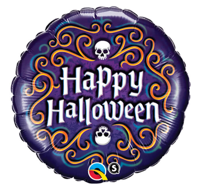 Palloncino Happy Halloween filigrana 45 cm 1 pezzo