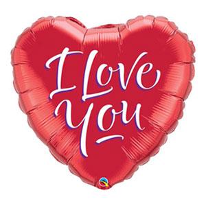 Palloncino cuore rosso scritta I Love You 45 cm 1 pezzo