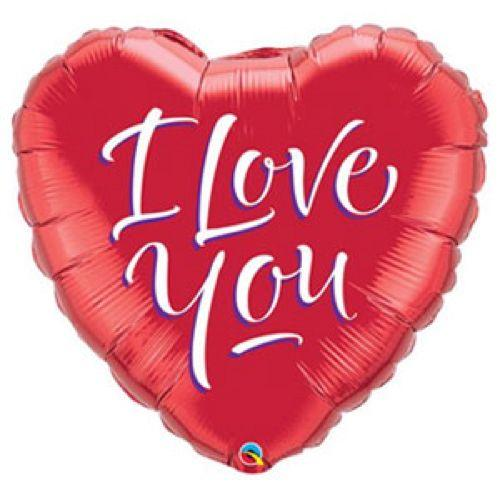 Palloncino cuore I Love You rosso UltraShape 1 pezzo