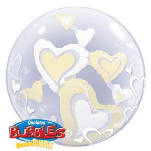Palloncino cuori Double-Bubble 61 cm 1 pezzo