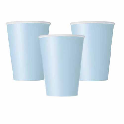 Bicchieri celeste pastello 14 pezzi