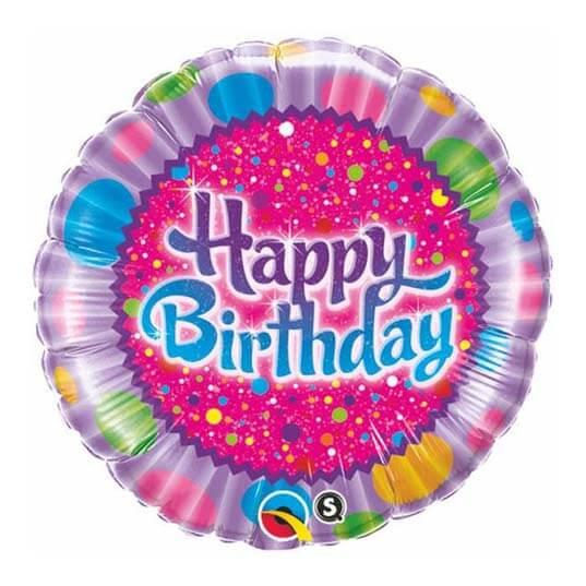 Palloncino cupcake glassato compleanno scritta happy BDay 45 cm 1 pezzo