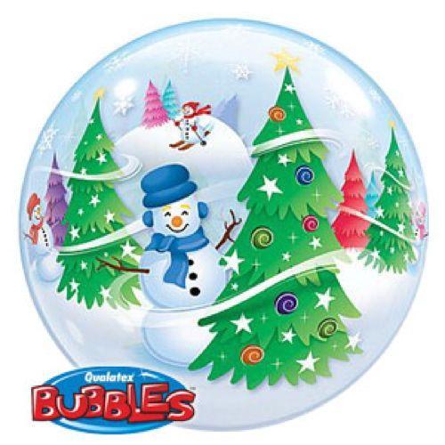 Palloncino albero di Natale Bubble 56 cm 1 pezzo