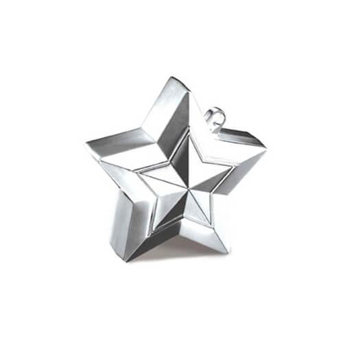Pesino stella argento per ancorare palloncini 1 pezzo