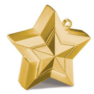 Pesino stella oro per ancorare palloncini 1 pezzo