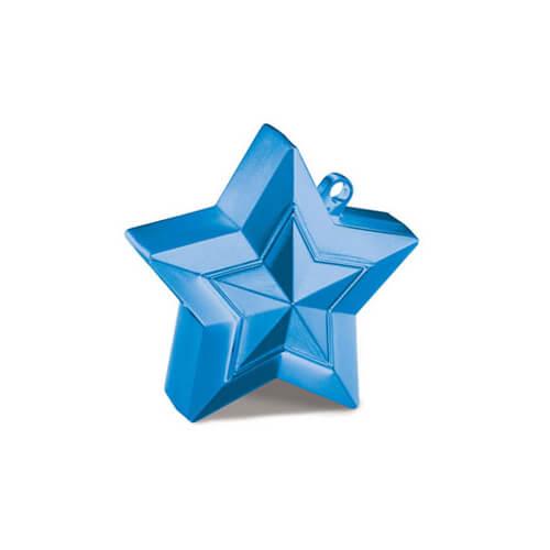 Pesino stella blu per ancorare palloncini 1 pezzo