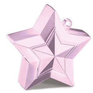 Pesino stella rosa pastello per ancorare palloncini 1 pezzo