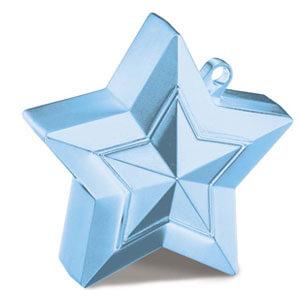 Pesino stella celeste pastello per ancorare palloncini 1 pezzo