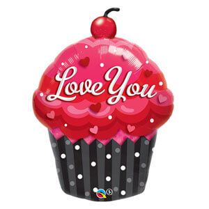 Palloncino love you cupcake UltraShape 1 pezzo