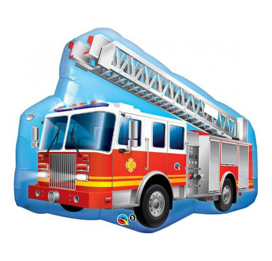 Palloncino camion dei pompieri UltraShape 1 pezzo