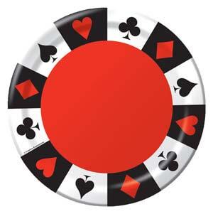 Piatti Carte da gioco linea Card Night grandi 8 pezzi