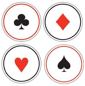 Sottobicchieri Carte da gioco linea Card Night 10 pezzi