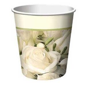 Bicchieri cerimonia bouquet di rose 8 pezzi