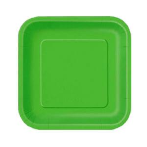 Piatti verde lime piccoli 16 pezzi