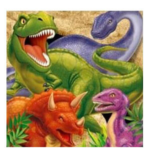 Tovaglioli Dinosauri 16 pezzi