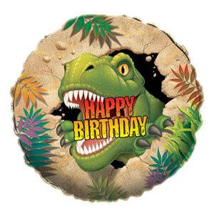 Palloncino Dinosauro compleanno scritta happy BDay 45 cm 1 pezzo