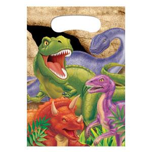 Bustine Dinosauri per regali fine festa 8 pezzi