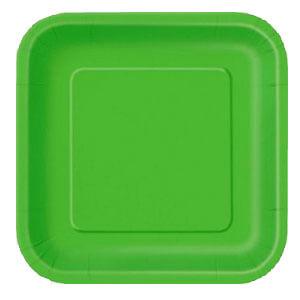Piatti verde lime grandi 14 pezzi