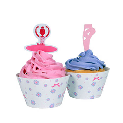 Set cupcake Ballerina 24 pezzi