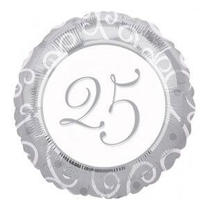 Palloncino 25esimo Anniversario 45 cm 1 pezzo
