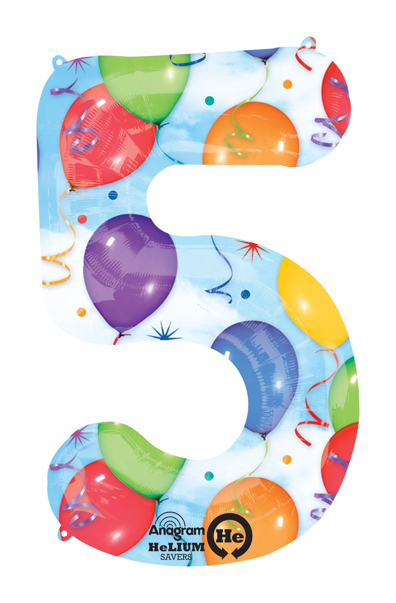 Palloncino numero 5 fantasia festa NumberShape 1 pezzo