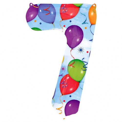 Palloncino numero 7 fantasia festa NumberShape 1 pezzo